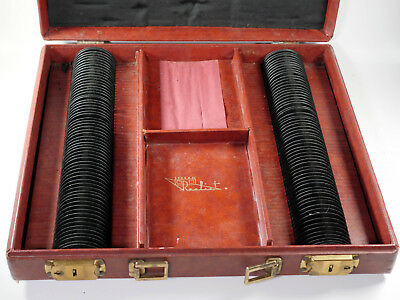Rare Stereo Realist slide & viewer briefcase storage carry case for 2 viewers