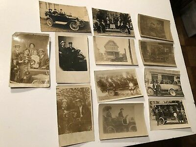 13-1907 RPPC's CARS-Touring Sightseeing Cars Interesting Lot w Photographer Sign