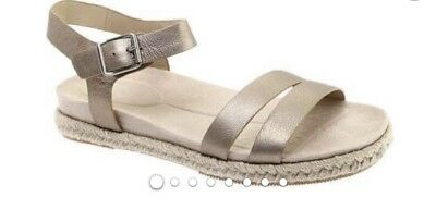 "1c247887776 Easy Spirit Women s ""Ixia"" Ankle Strap Espadrille Sz 9 M New In Box Bronze"