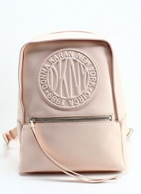 DKNY NEW Pink Quartz Silver Leather Tily Circa Small Backpack Bag $178 #036