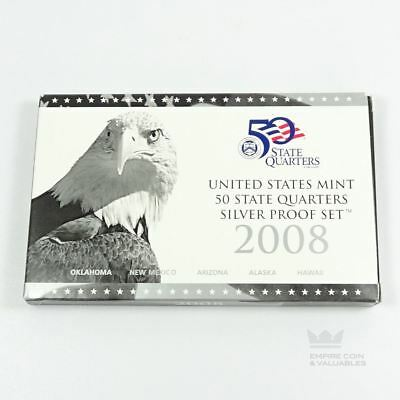 2008 United States Mint State Quarter Silver Proof Set