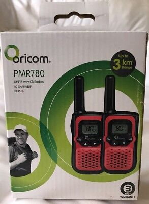 Walkie Talkies Oricom PMR780 Brand New A3