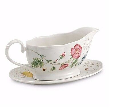 Lenox Butterfly Meadow Gravy Boat with Stand NEW IN BOX!