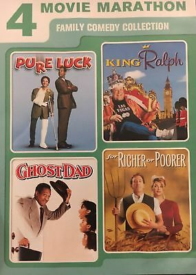 4movie DVD King Ralph,Pure Luck,for Richer or Poorer,Ghost Dad,John GOODMAN