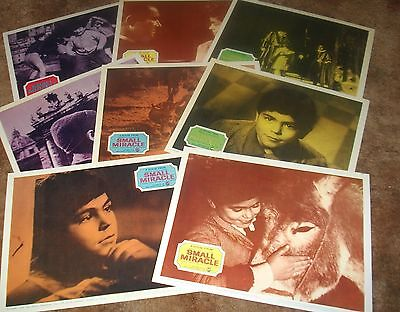 SMALL MIRACLE Vittorio Manunta Denis O'Dea 1966 SET 8 ORIGINAL LOBBY CARDS