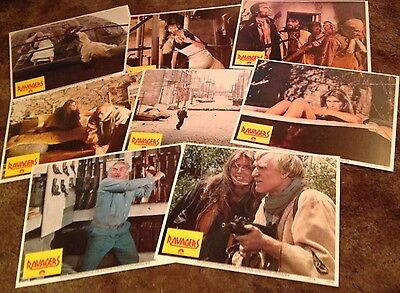 "1979 THE RAVAGERS Set of 8 ORIGINAL 11"" x 14"" LOBBY CARDS Richard Harris"