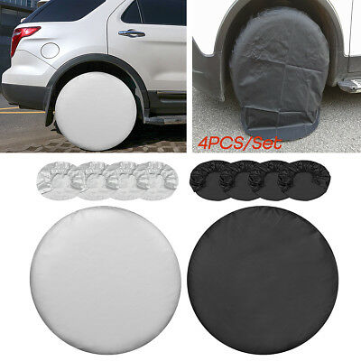4X 27Inch Wheel Tire Tyre Covers Protector For Car Van RV Camper Truck Trailer