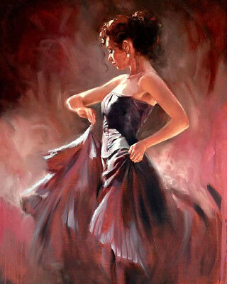 Flamenco dancer oil painting Giclee Art Printed on canvas L1946