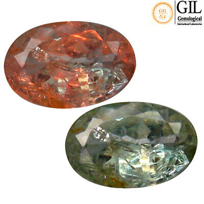 0.56 Ct Free GIL Cer World Class Oval 6 x 4 mm Natural Green To Red Alexandrite