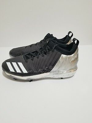 huge discount 3b85a 769c2 Adidas Boost Icon 3.0 Faded Metal Baseball Cleats Black Silver SZ 14. ( BY3684)