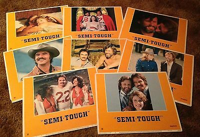 1975 SEMI-TOUGH Burt Reynold Jill Clayburgh 8 MOVIE LOBBY CARD SET
