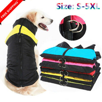 Waterproof Dog Clothes Warm Padded Coat Pet Vest Jacket Small Lage Dogs Winter