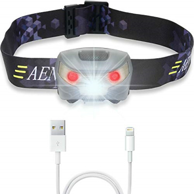 USB Rechargeable LED Head Torch - Super Bright, Waterproof, Lightweight & -