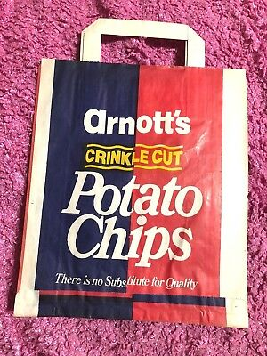 Vintage Arnott's Paper Show Bag Potato Chips Original UNUSED MINT 1960s