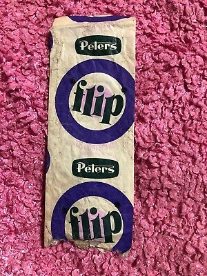 Vintage Peters FLIP Ice Cream Wrapper Bag Packet Original Victoria Australia