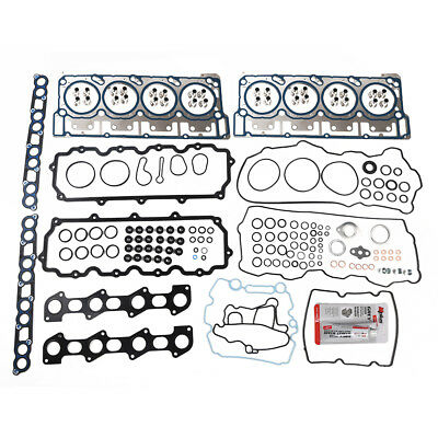 For 03-10 Ford 6.0L Diesel Turbo Head Gasket Set w/Fel-Pro MLS Head Gaskets 18mm
