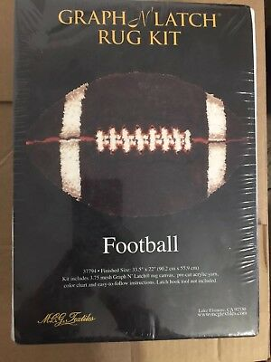 Latch Hook Kit Rug DIY Football Craft Needle Embroidery for Children Gift