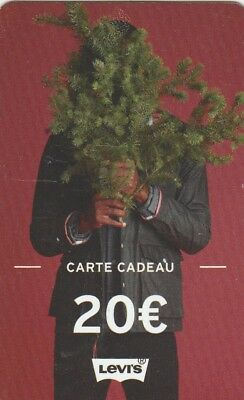 CARTE CADEAU  GIFT CARD-  LEVIS  20eu  (FRANCE)