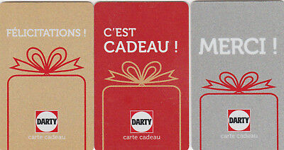 Carte Cadeau  Gift Card -  Darty  (France)