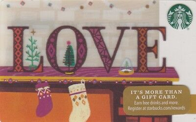 CARTE CADEAU  GIFT CARD - STARBUCKS  Love 6128   2016  (USA )