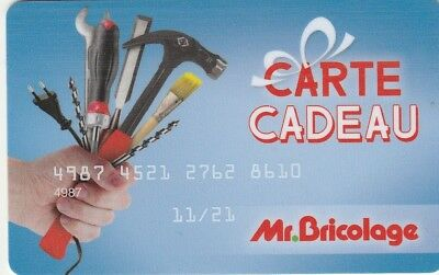 CARTE CADEAU  GIFT CARD -Mr BRICOLAGE  11/21  (FRANCE)