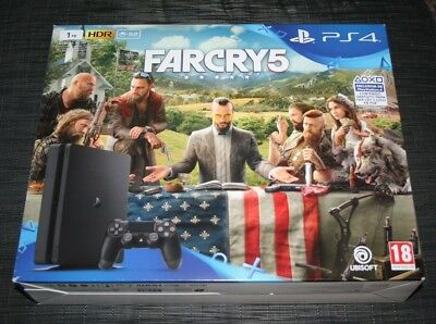 Boite Carton Orginal Console Ps4 Edition Jet Black 1Tb Farcry 5 Box Only