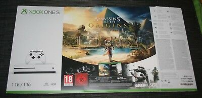 Encart Pub Boite Carton Orginal Console Xbox One S 1Tb Assassin's Creed Origine