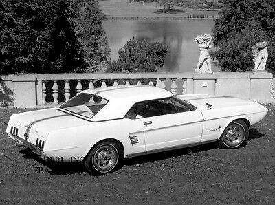 Ford Mustang II 1963 concept car new car automobile press photograph photo