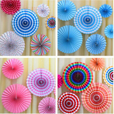 6pcs Set Paper Fan Flowers Wedding Baby Birthday Party Tissue Paper