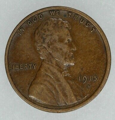 1915 S Lincoln Wheat Cent Penny 1C  Xf Extra Fine (8270)