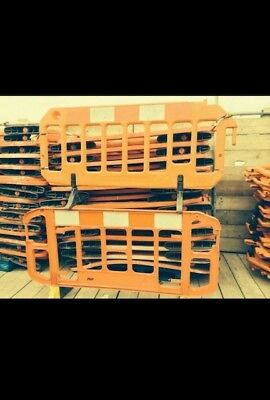 Plastic Safety Barriers. Large Quantity In Stock. Contact For Delivery Options.