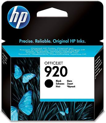 HP 920 Black Original Genuine Ink Inkjet Cartridge (CD971AE) - New