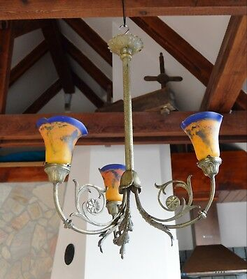 Rare Antique French ART NOUVEAU  Chandelier 1920's