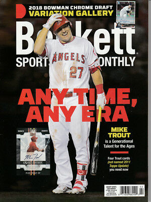 February 2019 Beckett Sports Card Price Guide Magazine Vol 36  No 1 Mike Trout