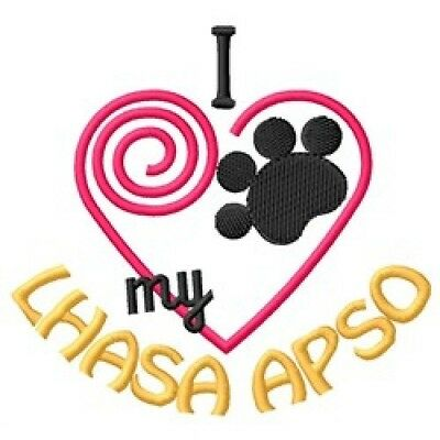 """I """"Heart"""" My Lhasa Apso Long-Sleeved T-Shirt 1341-2 Size S - XXL"""
