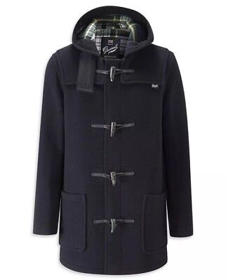 Gloverall Duffle Coat Made In England pre Owned Size 40 Navy Plaid Authentic