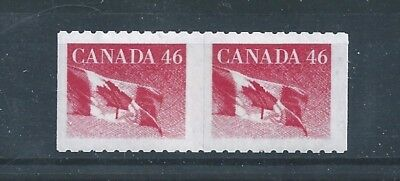 Canada 1695a Imperf Coil with Trace 1695 Flag Roll Stamp MNH ** Free Shipping **