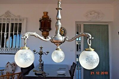 Antique French  Stunning Dragon Silver Chandelier