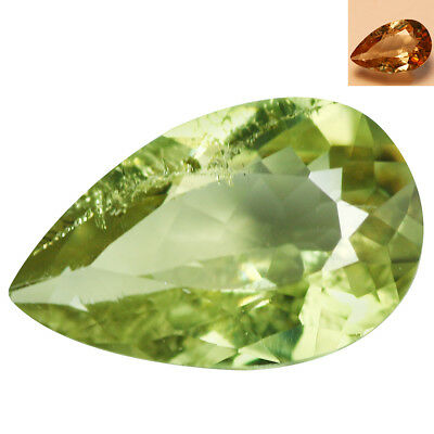 1.73Ct Extreme Pear Cut 8 x 6 mm AAA Color Change Turkish Diaspore