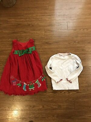 SOPHIE ROSE  Holiday Dress  And  Matching Top Size 4T Christmas