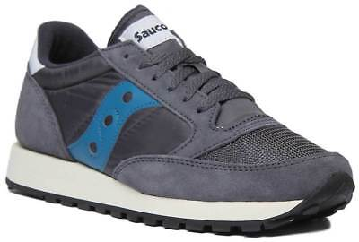 Details about Saucony Jazz Original Mens Suede Blue and Silver Fabric Trainers UK Size 3 8