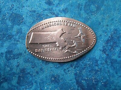 MASSACHUSETTS THE BAY STATE Elongated Penny Pressed Smashed 29