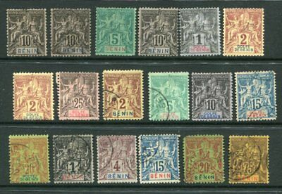BENIN FRENCH COLONIES SAGE M&U Lot 18 Stamps