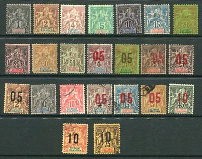 ANJOUAN FRENCH COLONIES SAGE M&U Lot 23 Stamps