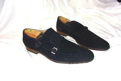 72b3dbf0582c0 HUGO BOSS BLUE Suede Leather Slip On Horsebit Driving Loafer Shoes ...