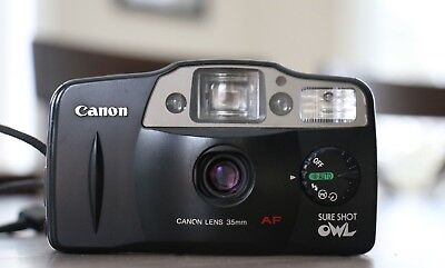 Canon Sure Shot Owl 35mm film compact point & shoot camera TESTED good condition