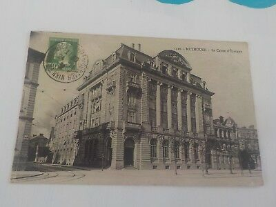 Cpa  Mulhouse  La Caisse D Epargne Voyagee Timbree 1931
