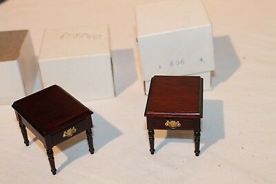 Doll Furniture  Pair of End Tables