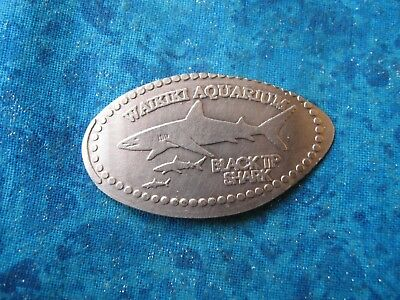 BLACKTIP SHARK WAIKIKI AQUARIUM HAWAII COPPER Elongated Penny Pressed Smashed 14