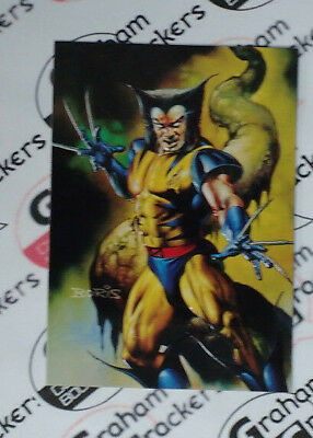 Marvel Masterpieces 96 Wolverine/Venom Double Impact trading card by Julie Bell